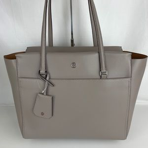 New Tory Burch Parker Storm Gray Tote 37169